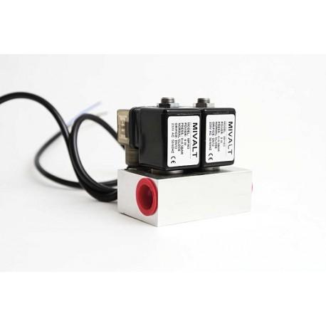 """kulový ventil MP 163-2, G 1/2"""", 230V AC, - nerez"""