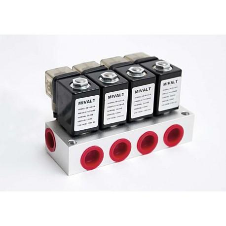 """kulový ventil MP 163-4, G 1/2"""", 230V AC, - nerez"""