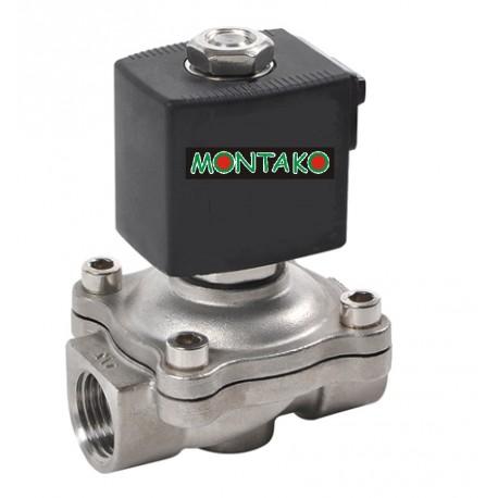 ventil typu MP-W200-20SVK, NO, 12V DC, G 3/4 - nerezový