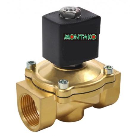 "ventil MP 116-2020, NC, 12V DC, G 3/4"" - mosazný"
