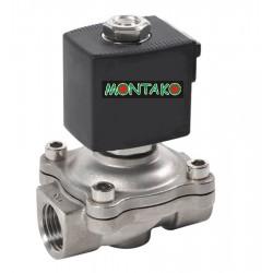"""Nerezový ventil typu MP-W200-20SV, NC, 12V AC, G 3/4"""""""